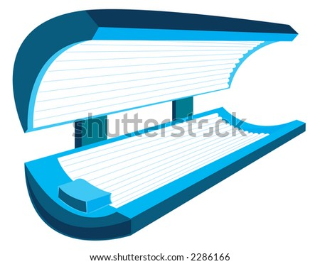 Tanning bed - includes clipping path - stock photo
