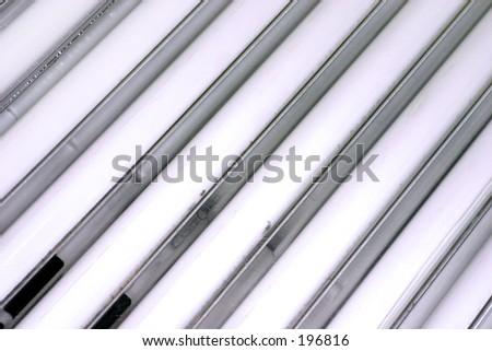 Tanning bulbs - stock photo
