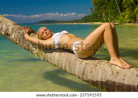 Tanning Pleasure Deserved Relaxation  - stock photo