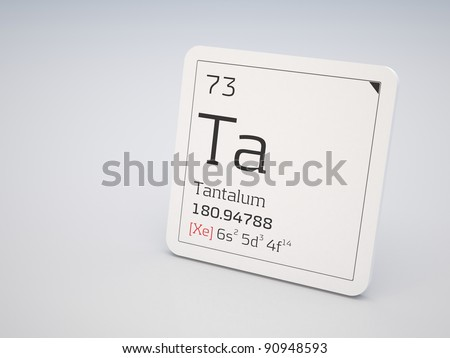 Tantalum - element of the periodic table