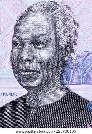 TANZANIA - CIRCA 2006: Julius Nyerere (1922-1999) on 1000 Shilingi 2006 Banknote from Tanzania. First President of Tanzania during 1961-1985. - stock photo
