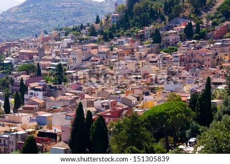Taormina Italian Town - stock photo