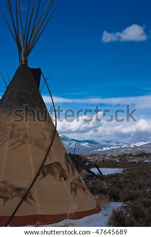 Taos Tepee 3 - stock photo