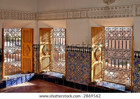 Taourirt Kasbah was home to the early 20th century Glaoui dynasty and was one of the largest kasbahs in the region. - stock photo