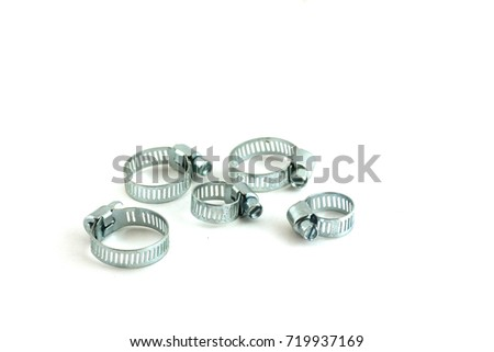 tap clamps isolated on white background