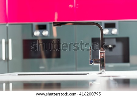 tap in the kitchen - stock photo