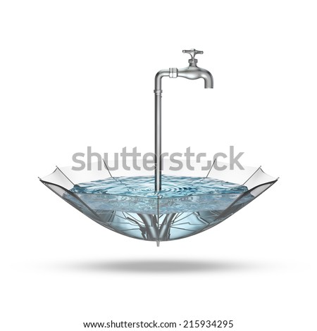 Tap umbrella - stock photo