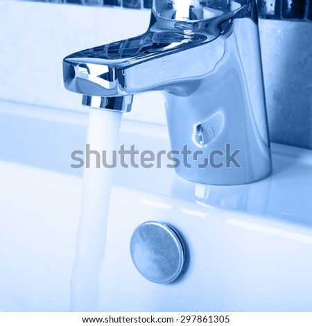 tap water - stock photo