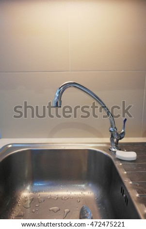 Tap water and sink