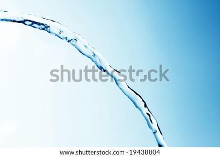 Tap water jet - stock photo