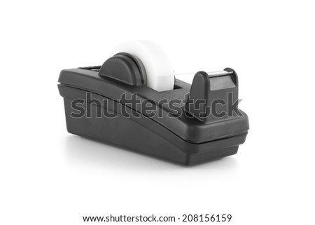 Tape dispenser isolated on white background