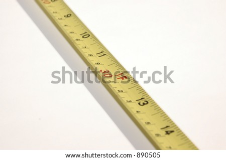 Tape Measure Background shallow DOF at 12""