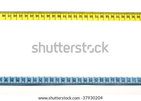 Tape measure bordering - stock photo