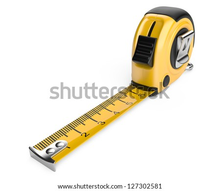 tape measure. 3d illustration  isolated on white background