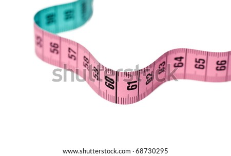 Tape measure isolated - stock photo