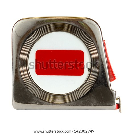 Tape measure isolated on a white background. - stock photo