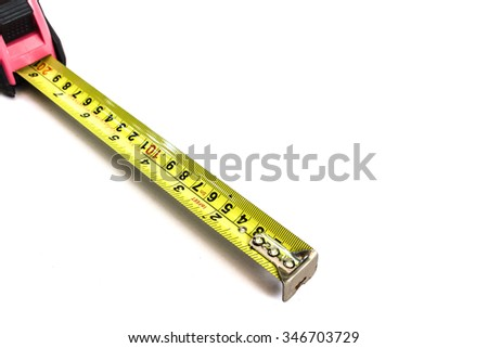 Tape measure isolated on a white background - stock photo