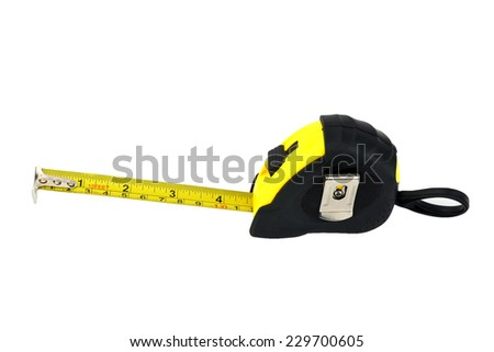 Tape measure isolated on the white background