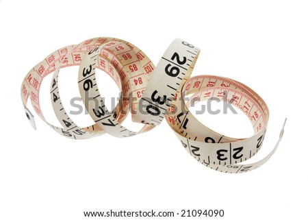 Tape Measure on Isolated White Background
