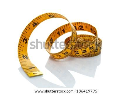 tape measure ribbon - stock photo