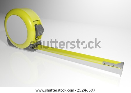 tape measure with copy space - stock photo