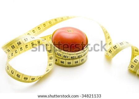 Tape measure with tomato