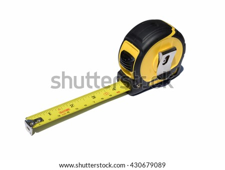 tape measure with write background