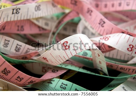 tape measures - stock photo