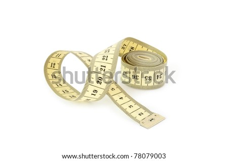 tape measuring isolated on white