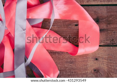 tape on a wooden background