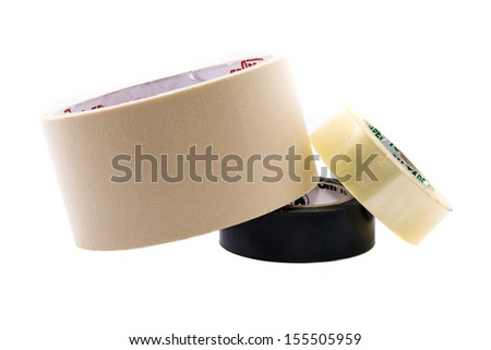 tape on white backgrounds - stock photo