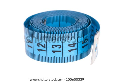 tapemeasure isolated on white background - stock photo