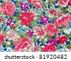tapestry textile pattern - stock photo