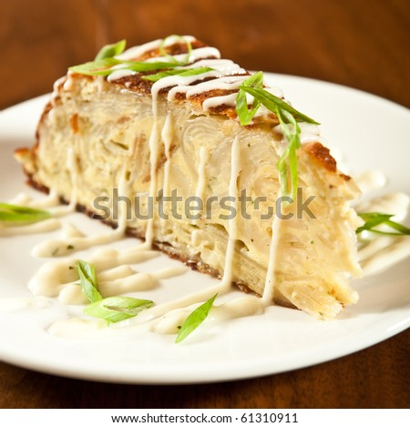 Tappas, dinner, and desserts. - stock photo