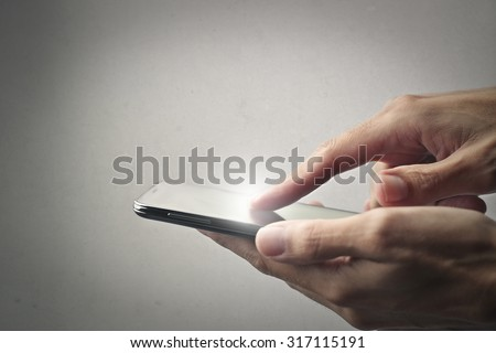 Tapping on a smart phone