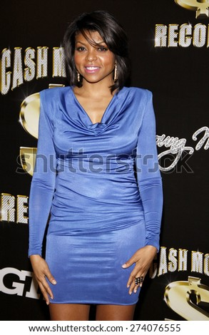 Taraji P. Henson at the 3rd Annual Cash Money Records Pre-Grammy Awards Party held at the Paramount Studios in Hollywood on February 11, 2012. - stock photo