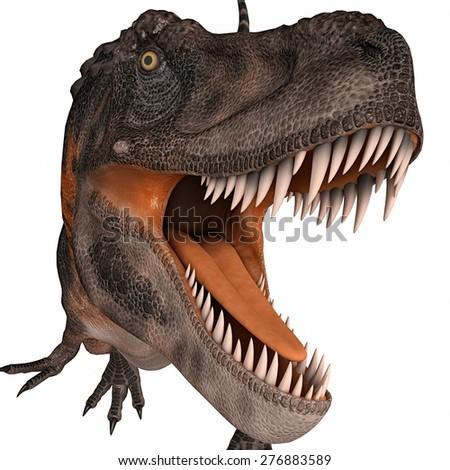tarbosaurus come here - stock photo