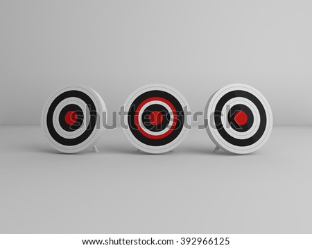 Target aim arrow - stock photo