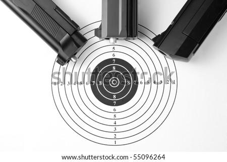 Target and air guns - stock photo