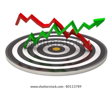 Target and Business graph - stock photo