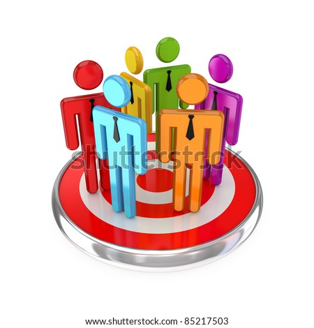 Target audience concept.3d rendered.Isolated on white background. - stock photo