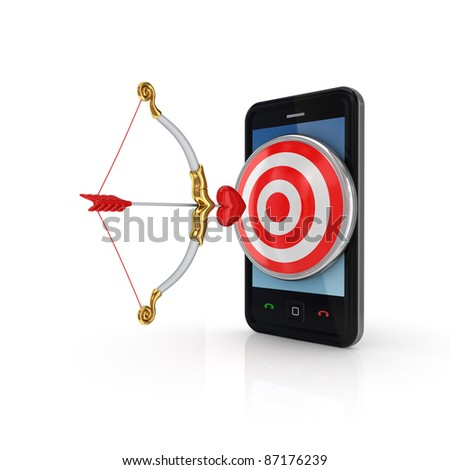 Target audience concept.Isolated on white background.3d rendered. - stock photo