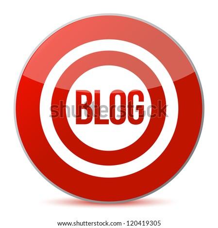 target blogs illustration design over a white background design - stock photo
