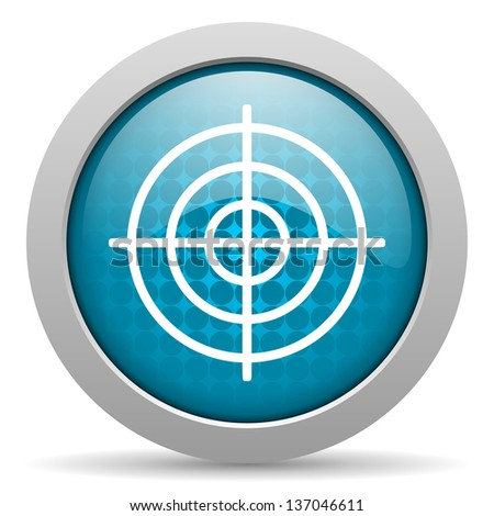 target blue circle web glossy icon