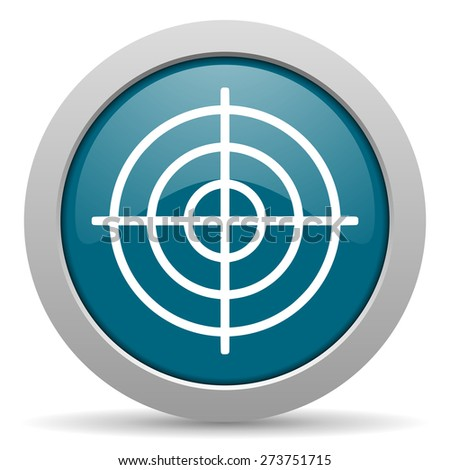 target blue glossy web icon - stock photo