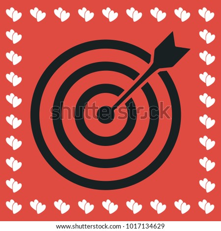Heart bullseye stock images royalty free images vectors target bullseye arrow icon flat simple black pictogram on red background with white hearts for thecheapjerseys Gallery