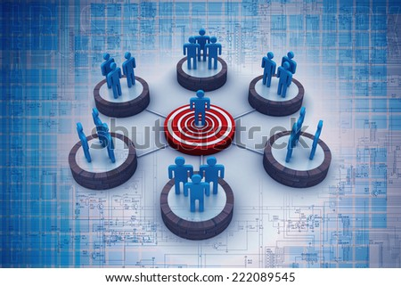 target business network - stock photo