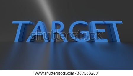 Target concept word - blue text on grey background.