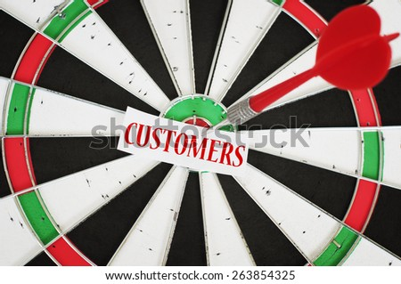 Target customers concept - stock photo