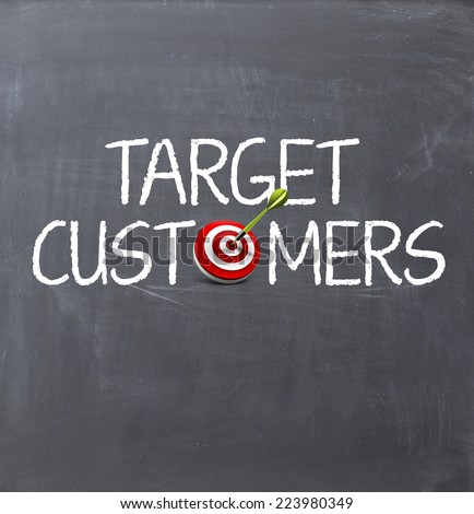 target customers to achieve sales growth - stock photo
